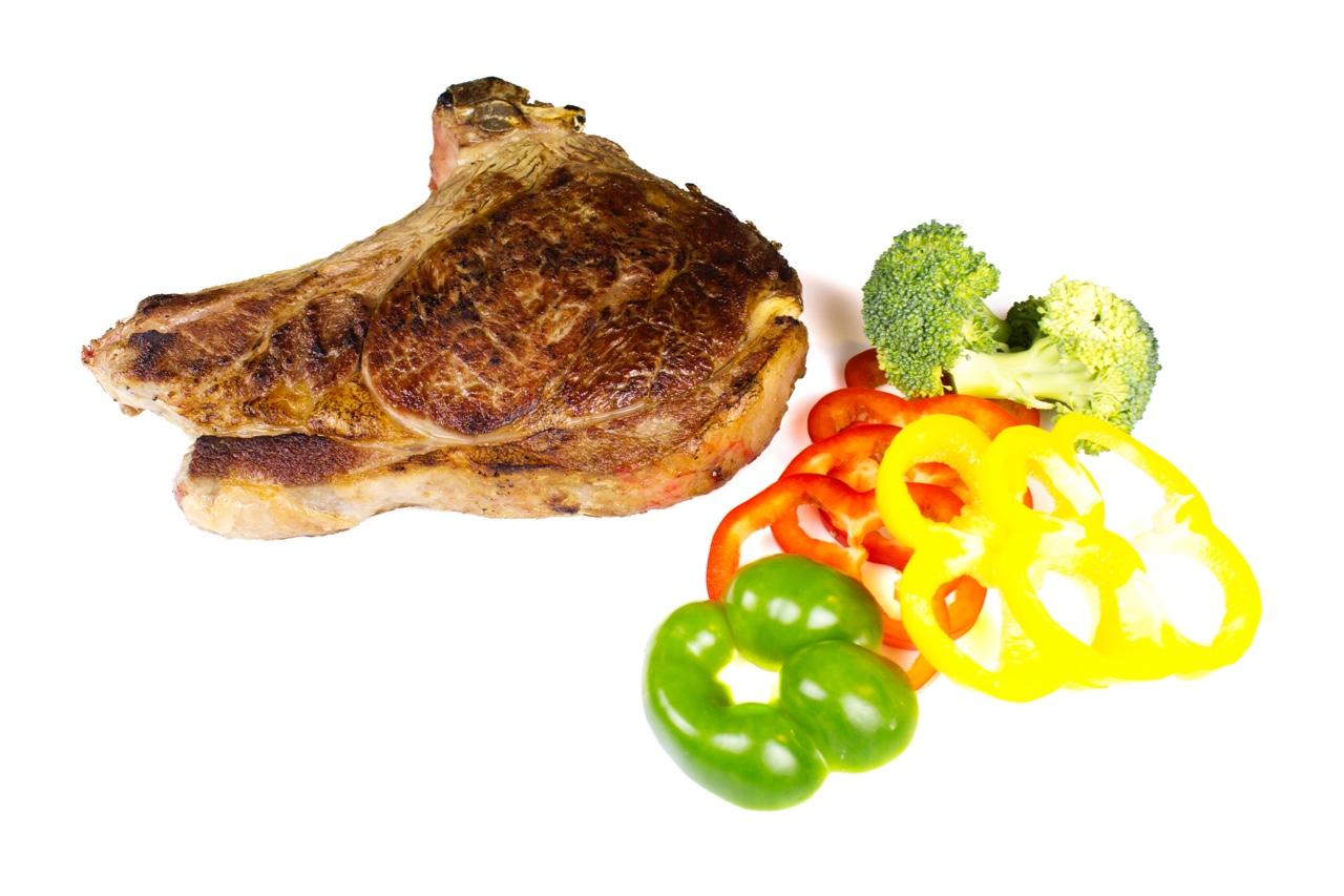 Chuletón de vaca elaborado verduras 2